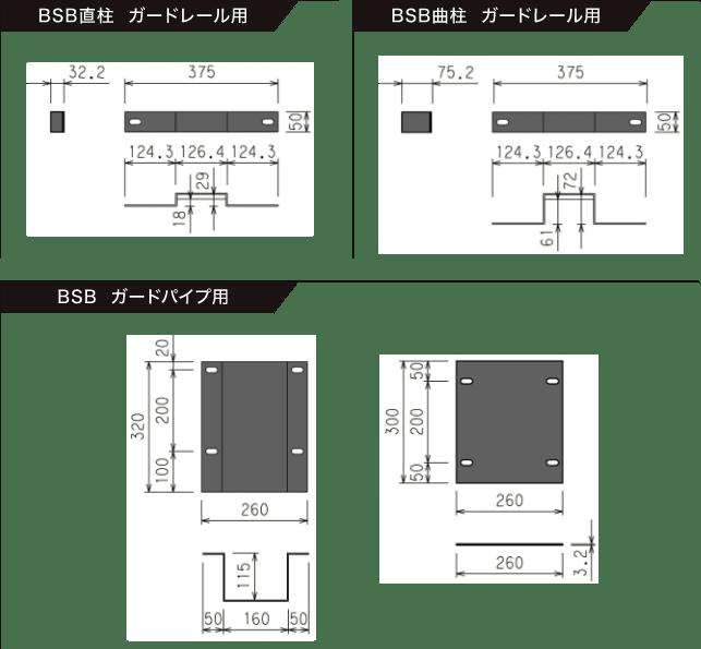図面 ガードレール CAD フリーデータ/ガードレール・ガードパイプ・ガードケーブル